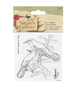 Набор силиконовых штампов Птицы Nature's Gallery, 3 штук
