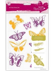 """Набор силиконовых штампов """"Бабочки"""", 10 шт., Papermania"""