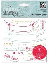 """Набор резиновых штампов """"Пожелания"""" коллекция 12 Days of Christmas, 17 шт., DoCrafts"""