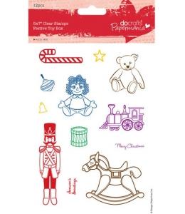 """Набор новогодних силиконовых штампов """"Игрушки на Новый год"""", Papermania"""