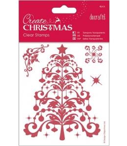 """Набор силиконовых штампов """"Новогодняя ель"""", Create Christmas DoCrafts"""