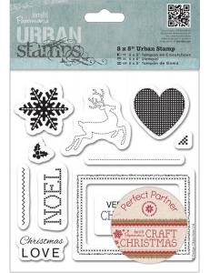 """Набор резиновых штампов """"Рождество"""" Craft Christmas, 11 шт., DoCrafts"""