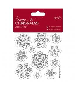 """Набор новогодних силиконовых штампов """"Снежинки"""", коллекция Create Christmas, DoCrafts"""