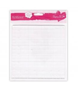 Блок для штампов акриловый прозрачный с разметкой, Papermania, 16,5х16,5 см