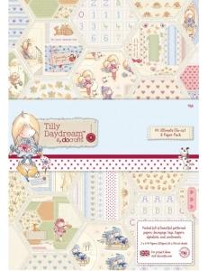 Набор бумаги и высечки для скрапбукига, коллекция Tilly Daydream,А4, 48 листов, DoCrafts