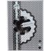Набор декоративных мини пуговиц Цветочки, Bexley Black, 30 шт