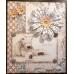 Набор мини пуговиц для скрапбукинга Горошек бежевый, коллекция Lincoln Linen, 60 шт.