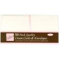 Набор заготовок для открыток с конвертами, 13,5х13,5 см, кремовый, ANITA'S, 50 шт