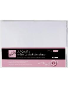 Набор заготовок для открыток с конвертами, 14,8х21,0 см, белый, ANITA'S, 25 шт