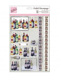 """Набор высечек для объемных изображений """"Бутылки"""", А4, DoCrafts"""