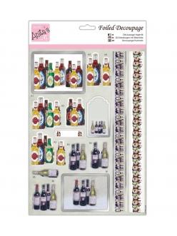 Набор высечек для объемных изображений Бутылки, А4, DoCrafts