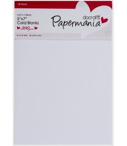 Набор заготовок для открыток с конвертами Papermania, цвета белый и черный, 12,7х17,8 см, 10 шт