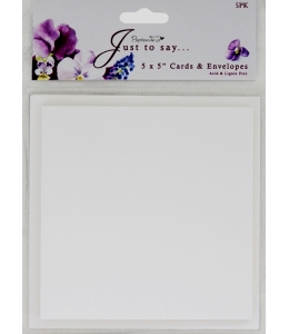 Набор заготовок для открыток с конвертами Just To Say, Рамка, 12,5х12,5 см, 5 шт, Papermania