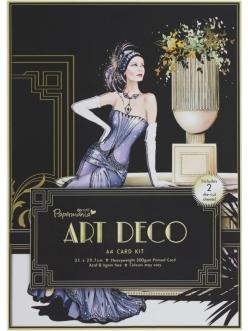 Набор для изготовления объемной 3D открытки Art Deco, Дама в сиреневом, DoCrafts, 21х29,7 см