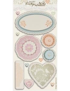 Набор объемных наклеек, коллекция Vintage Notes, Papermania