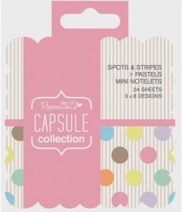 Набор высечки и карточек для журналинга Spots & Stripes Pastels, 24 штуки, Papermania
