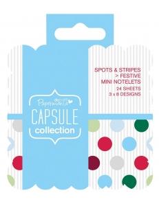 Набор высечки и карточек для журналинга Spots & Stripes Festive, 24 штуки, DoCrafts