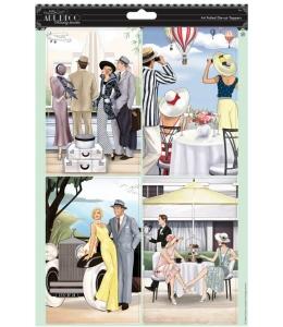 """Набор высечки для скрапбукинга Art Deco, """"Веселые приключения"""", 2 листа А4, DoCrafts"""