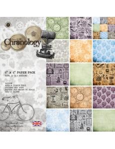 Набор бумаги для скрапбукинга Chronology, 32 листа, 15,2 х 15,2 см, Papermania