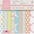 Набор бумаги для скрапбукинга Spots & Stripes Pastels, 32 листа, 15,2х15,2 см, Papermania