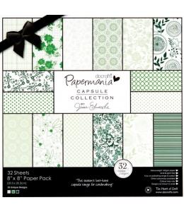 Набор бумаги для скрапбукинга Chelsea Green, цвет зеленый, 30,5х30,5 см, Papermania