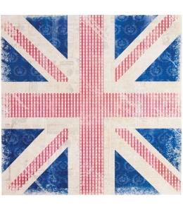 "Бумага для скрапбукинга односторонняя Portobello Road ""Винтажный флаг"" 30,5х30,5 см"