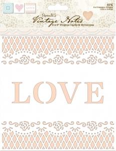 Набор заготовок для открыток с конвертами Vintage Notes, 15,2х15,2 см, Papermania