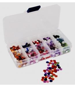 """Стразы """"Цветы и камни"""" в органайзере, ассорти, 750 шт, DoCrafts"""