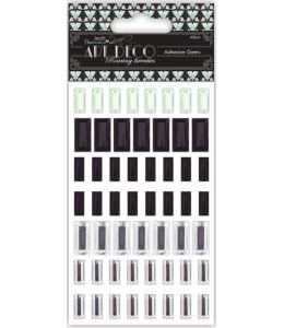 Стразы клеевые Art Deco, серебряные, салатовые, черные, 69 шт.