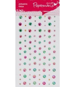 Стразы клеевые Звездочки, сердечки, круглые, пастельные цвета, 104 шт., DoCrafts