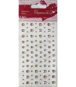 Стразы клеевые Звездочки, сердечки, круглые, цвет прозрачный радужный, 104 шт., DoCrafts
