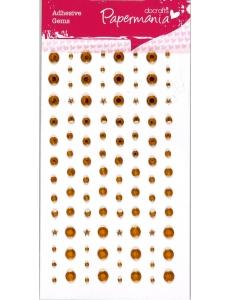 Стразы клеевые Звездочки, сердечки, круглые, цвет золотой, 104 шт., DoCrafts
