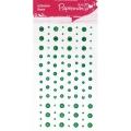 Стразы клеевые Звездочки, сердечки, круглые, цвет зеленый, 104 шт., DoCrafts