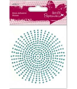 Стразы клеевые, цвет аквамарин,2 мм, 424 шт., Papermania
