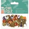 Набор пуговиц, страз и подвесок для скрапбукинга Owl Folk, 32 шт., DoCrafts