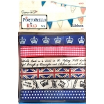 """Набор лент """"Флаг Соединенного Королевства"""", 6 шт, коллекция Portobello Road, Docrafts"""