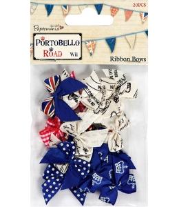 """Набор бантиков """"Флаг Соединенного Королевства"""", 20 шт, коллекция Portobello Road, Docrafts"""