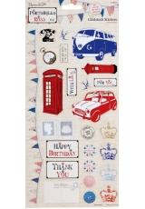 Набор стикеров из кардстока Лондон, коллекция Portobello Road, 2 листа, Docrafts