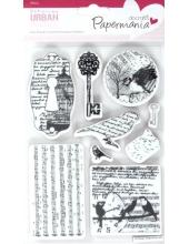 """Набор резиновых штампов """"Птицы, ноты"""", 12,7х17,8 см, пластиковая основа, Docrafts"""