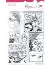 """Набор резиновых штампов """"Путешествия"""", 12,7х17,8 см, пластиковая основа, Docrafts"""