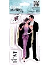 """Набор резиновых штампов Art Deco """"Балтимор"""", 12,7х17,8 см, Docrafts"""