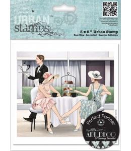 """Набор резиновых штампов Art Deco """"Послеполуденный чай"""", 12,5х12,5 см, Docrafts"""
