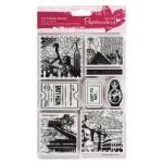 """Набор резиновых штампов """"Вокруг света"""", 12,7х17,8 см, пластиковая основа, Docrafts"""