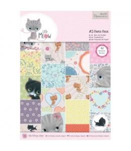Набор бумаги для скрапбукига Little Meow, А5, 42 листа, Papermania
