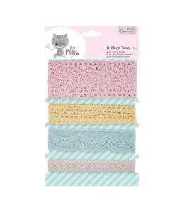 Набор кружевной тесьмы Little Meow, 4 шт, Papermania
