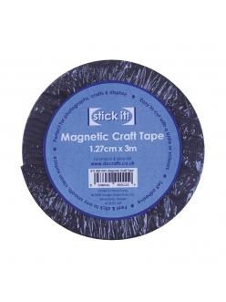 Магнитная лента самоклеящаяся для хобби STICK IT, 1,27 см х 3 м, Docafts