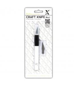 Нож макетный цанговый №1 для резки бумаги, 3 запасных лезвия, HCUT