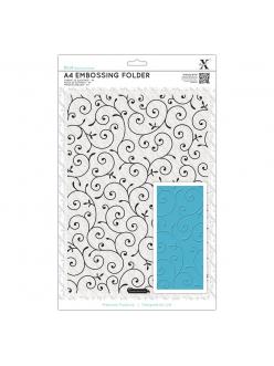 Форма для эмбоссирования Завитки с листочками, 21х29,7 см, DoСrafts