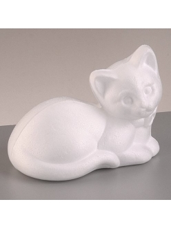 """Фигурка из пенопласта """"Котёнок лежащий"""", 9,5х13,5 см, EFCO (Германия)"""