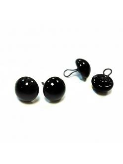 Глазки стеклянные для мишек Тедди и кукол на металлической петле, цвет черный, 8 мм, 4 шт, EFCO